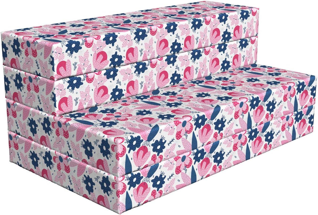 Lunarable Floral Foldable Mattress Colorful Summer Plant Spring 100% Nashville-Davidson Mall quality warranty