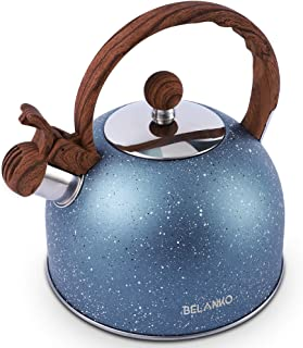 Tea Kettle, 2.3 Quart Tea Pot BELANKO Whistling Water Kettle, Food Grade Stainless Steel Teapot for Stovetops Gas Electric...
