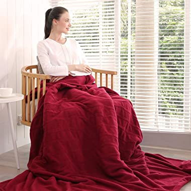 "Electric Heated Blanket Polar Fleece Full Size 77""x 84""Extra-Warm Lightweight Cozy Luxury Bed Blanket Machine Washabl"