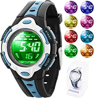 AIKURIO Children's Digital Watch 50M Waterproof with...