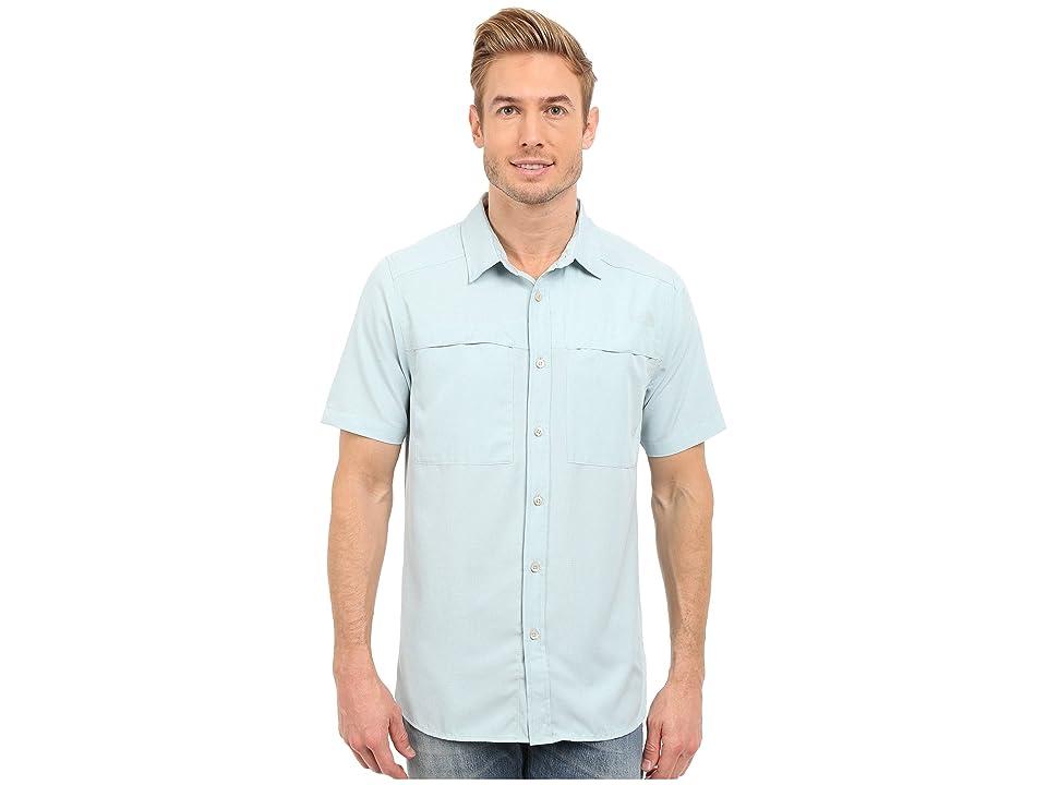 The North Face Short Sleeve Traverse Shirt (Cloud Blue Heather (Prior Season)) Men