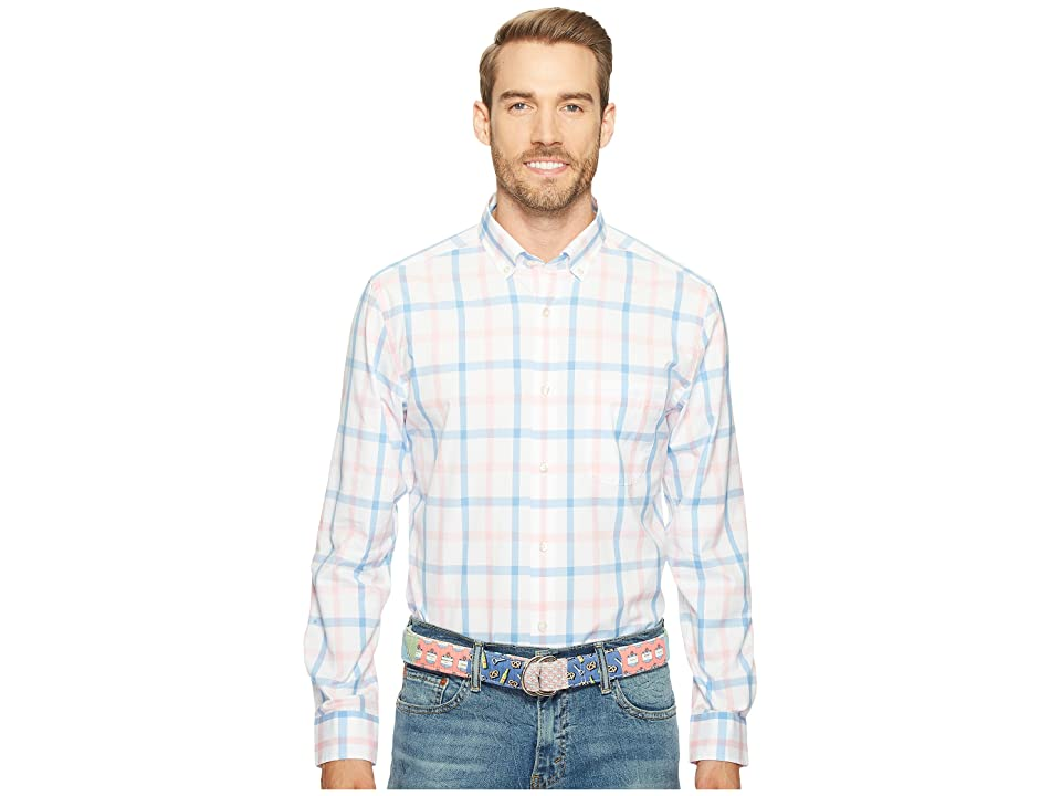 Vineyard Vines Elsie Bay Check Classic Murray Shirt (Dawn Pink) Men