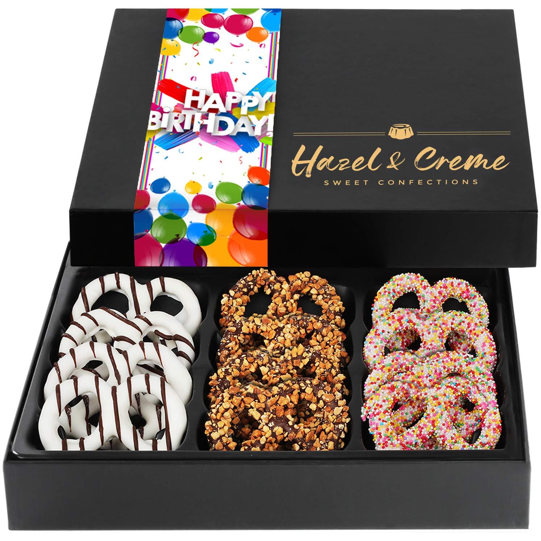 Hazel Creme Chocolate Covered Max 51% OFF Pretzels depot BIRTHDAY - HAPPY Chocol