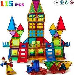 Magblock 115 PCS Magnetic Blocks, Magnetic Tiles Building Blocks for Kids Toy,Magnet Toys Set 3D Building Blocks for Toddler Boys and Girls