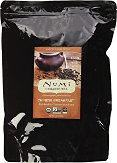 Numi Organic Tea Chinese Breakfast, 16 Ounce Pouch, Loose Leaf Yunnan Black Tea (Packaging May Vary)