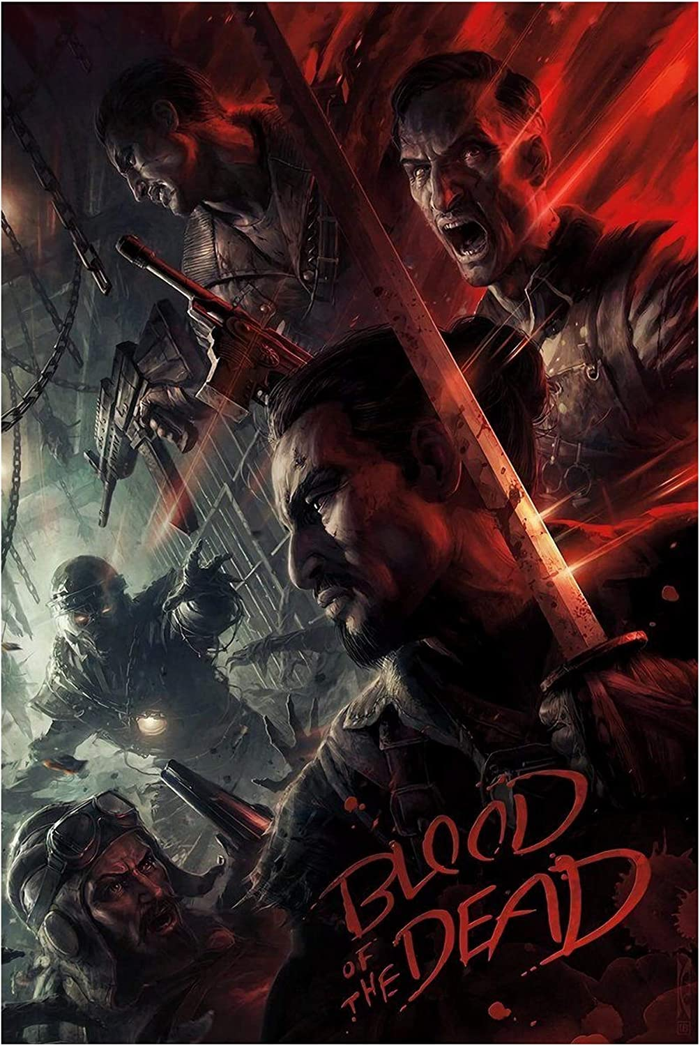Amazon Com Call Of Duty Black Ops 4 Blood Of The Dead Zombies Art Print Size 13x20 24x36 27x40 32x48 24 X36 60x91cm Posters Prints