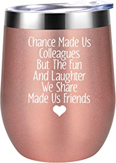 Gifts for Coworkers - Chance Made Us Colleagues - Coworker Gifts for Women - Coworker Christmas Gifts - Funny Birthday, Going Away Gifts Ideas for Female Coworkers - Coolife Coworker Mug Wine Tumbler