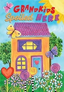 """Best Briarwood Lane Grandkids Spoiled Here Floral Garden Flag Everyday Sunshine 12.5"""" x 18"""" Review"""