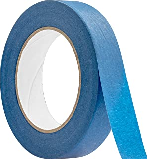 No-Residue 1 Inch, 60 Yard Blue Painters Tape 1 Pk. Easy-Tear, Pro-Grade Removable Masking Tape Great for Home, Office or Commercial Contractor. Clean, Drip-Free Painting with Wide Crepe Paper Rolls