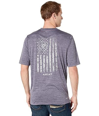 Ariat Charger Flag Short Sleeve T-Shirt (Graystone) Men