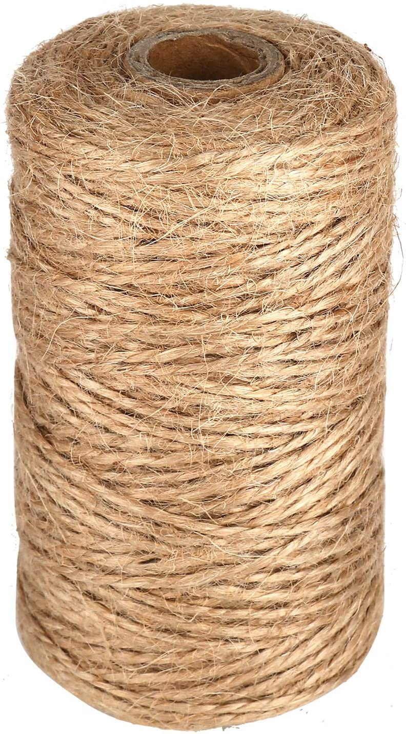 328 Feet At the price Natural Jute Twine 2Ply Durable A Rope for New Orleans Mall Brown