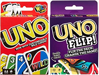Mattel Uno Original and Uno Flip Card Games, Combo Pack of 2