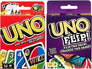 Mattel Uno カードゲーム Uno フリップカードゲーム 2個セット マルチカラー