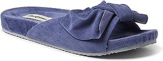 Dearfoams Women's Megan Knotted Microwool Molded Footbed Slide Slipper
