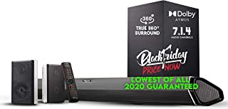 "Nakamichi Shockwafe Pro 7.1.4 Channel 600W Dolby Atmos Soundbar with 8"" Wireless Subwoofer, 2 Rear Surround Speakers. Expe..."
