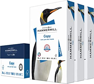 $29 » Sponsored Ad - Hammermill Printer Paper, 20 lb Copy Paper, 8.5 x 14 - 3 Ream (1,500 Sheets) - 92 Bright, Made in the USA