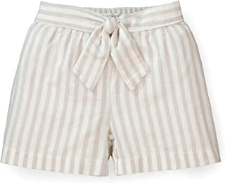 Hope & Henry Girls' Pull-On Tie Front Short