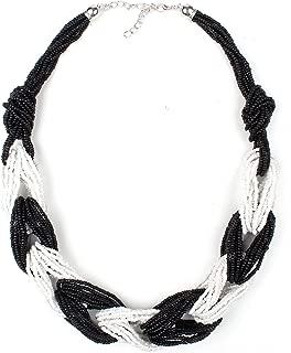 Ethnic Necklace for Women Choker Handmade Millet Bead Bohemian Jewelry