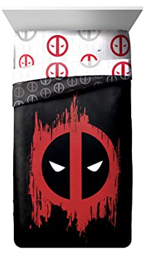 Jay Franco Deadpool Invasion Twin/Full Reversible Comforter (Official Marvel Product)