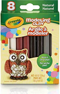 Crayola Modeling Clay (8 Per Pack), 0.6 Ounces, Natural for Unisex