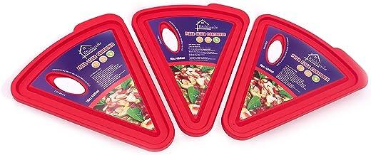 Kitchknacks Pizzascheiben-Behälter, 3er-Pack, Pizza-Aufbewa