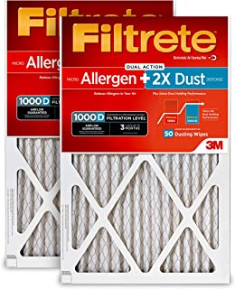 Filtrete 20x25x1, AC Furnace Air Filter, MPR 1000D, Micro Allergen PLUS DUST, 2-Pack
