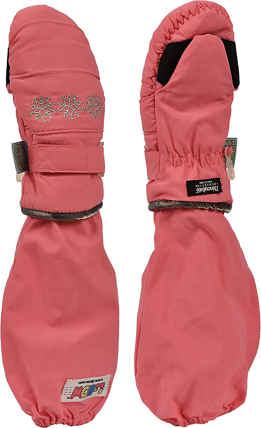 L-Bow Girl's Sparkle Waterproof 3M Thinsulate Mitten
