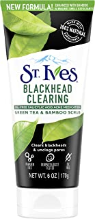 St. Ives Blackhead Clearing Face Scrub Clears Blackheads & Unclogs Pores Green Tea & Bamboo With Oil-Free Salicylic Acid A...