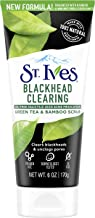 St. Ives Blackhead Clearing Face Scrub Clears Blackheads and Unclogs Pores Green Tea and Bamboo With Oil-Free Salicylic Acid Acne Medication, Made with 100 percent Natural Exfoliants 6 oz