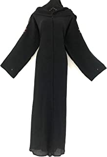 Women Abaya with Shawl Black Color Simple Design Nidha Material