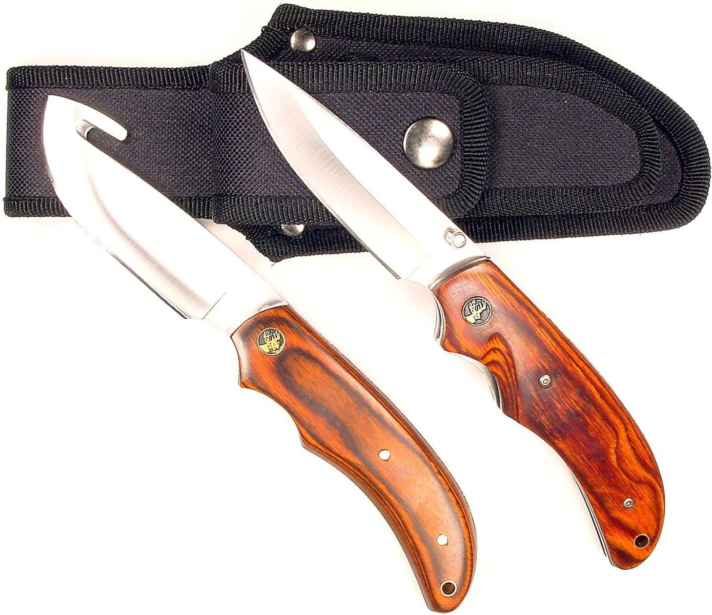 RUKO Pakkawood Handle Gut Hook Ranking TOP3 Skinning with Cheap mail order specialty store Folding K Set Knife