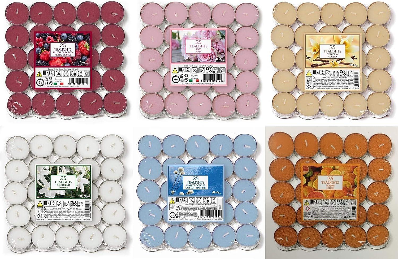 Vanille CA Lot de 30 bougies chauffe-plat parfum/ées pour femme bougies parfum/ées Happy