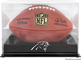 Carolina Panthers Team Logo Football Display Case | Details: Black Base, Mirror Back
