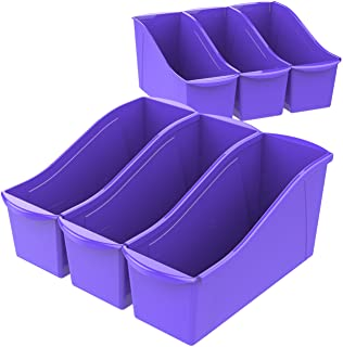 Storex Book Bin Large Book Bin Purple