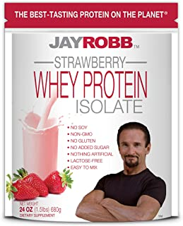Jay Robb Whey Isolate Protein Powder, Low Carb, Keto, Vegetarian, Gluten Free, Lactose Free, No Sugar Added, No Fat, No So...