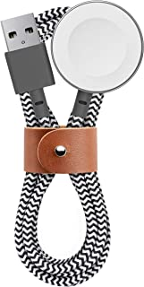 Native Union Belt Watch Cable - 4ft Ultra-Strong Reinforced [Apple MFi Certified] Durable USB Charging Cable for Apple Watch Charging Cable with Leather Strap (Zebra)
