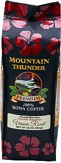 100% Kona Coffee - Private Reserve - Whole Bean - Vienna Roast - 16 Ounce Bag - by Mountain Thunder Coffee Plantation