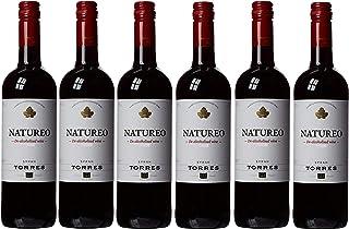 Natureo Syrah, Vino Tinto desalcoholizado - 6 botellas de 75 cl, Total: 4500 ml