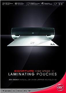 Gbc IB049033 BL80MHSA4 Laminating Pouch, A4 80 Micron PK100 H,Speed, Black, Red