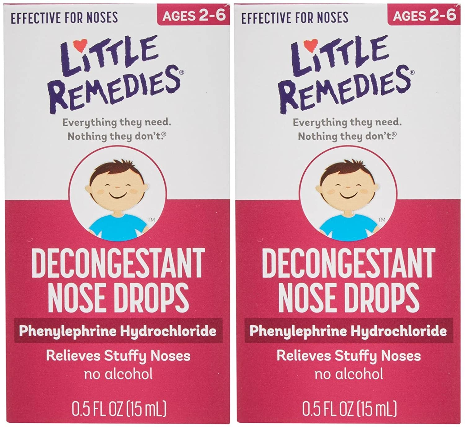 Little Remedies Noses Decogestant Drops - 2 pk Weekly update 70% OFF Outlet oz 0.5