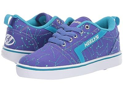 Heelys GR8 Pro Prints (Little Kid/Big Kid/Adult) (Blue Iris/Cyan/Constellations) Girls Shoes