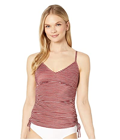 Prana Moorea Tankini (Rusted Roof Stripe) Women