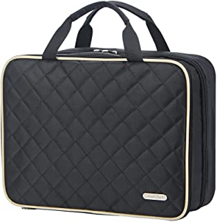 FINDCOZY Toiletry Bag Travel Bag with Hanging Hook, Cosmetic Bag, Travel Makeup Organizer for Women, Black
