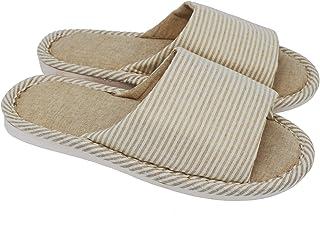 حذاء ابيكا رجالي ونسائي كاجوال مريح من القطن من الكتان مضاد للانزلاق للاستخدام الداخلي والخارجي