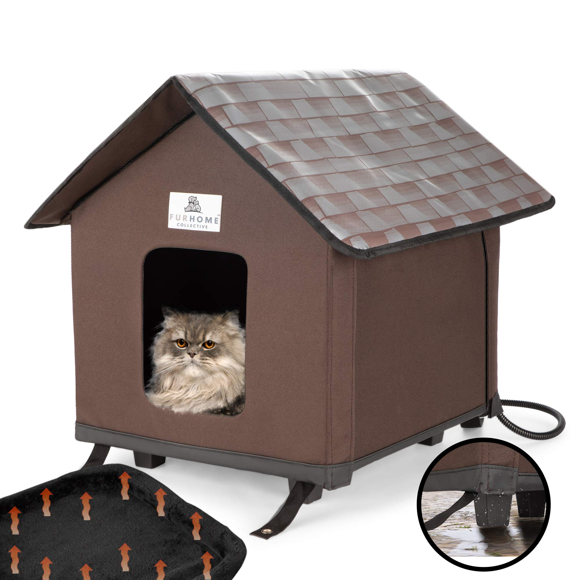 Heated Cat Houses For Indoor And Outdoor Cats Elevated Waterproof And Insulated A Safe Pet House And Kitty Shelter For Your Cat Or Small Dog To Stay Warm And Dry A Bed