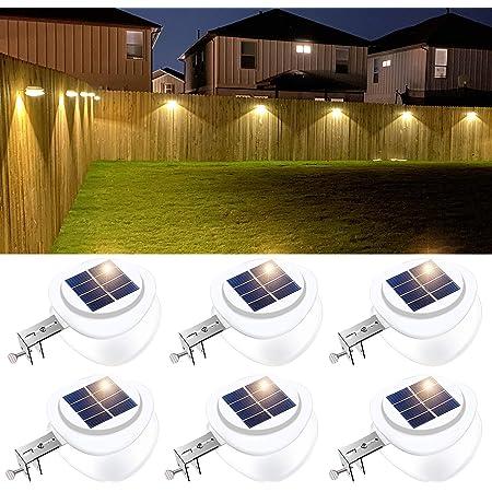 White Led Solar Power Garden Lights Gutter Fence Wall Roof Outdoor Light