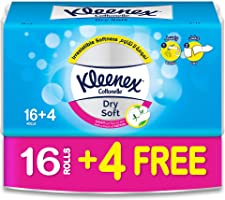 Kleenex Toilet Paper Dry Soft - Pack of 20 Tissue Rolls, 200 Sheets x 2 Ply