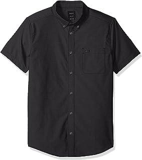 RVCA Men's Short Sleeve Button Down Oxford Shirt
