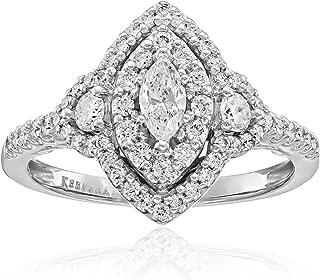 Keepsake Signature 14k White Gold Diamond Marquise Halo Engagement Ring (1cttw, H-I Color, I1 Clarity)