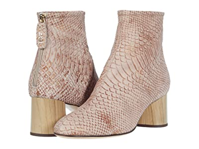 AGL Back Zip Ankle Bootie (Poudre Pink) Women